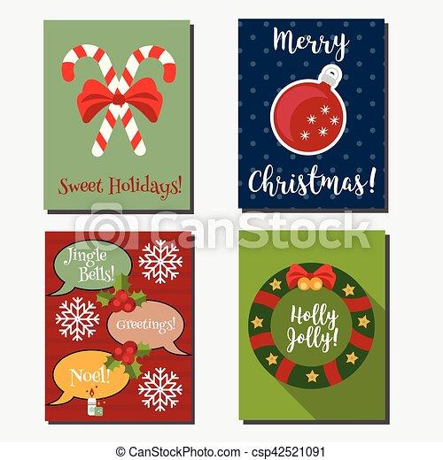 Navidades Vacaciones De Año Nuevo Vectores Verticales