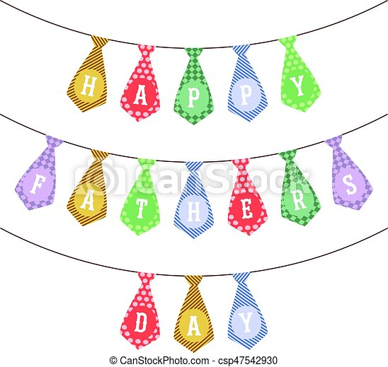 Vector Festive Garland For Fathers Day Happy Father S Day