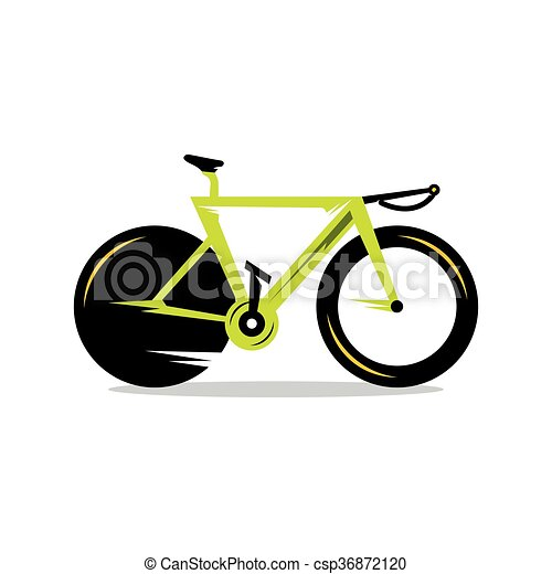 vector, fiets, spotprent, illustration. - csp36872120