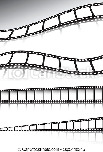 Vector film strip background illust - csp5448346