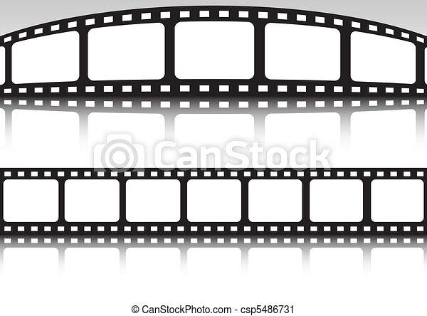 Vector film strip double set - csp5486731