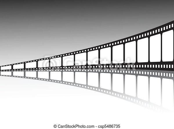 Vector film strip illustration  - csp5486735