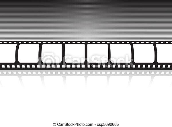 Vector film strip reflection - csp5690685