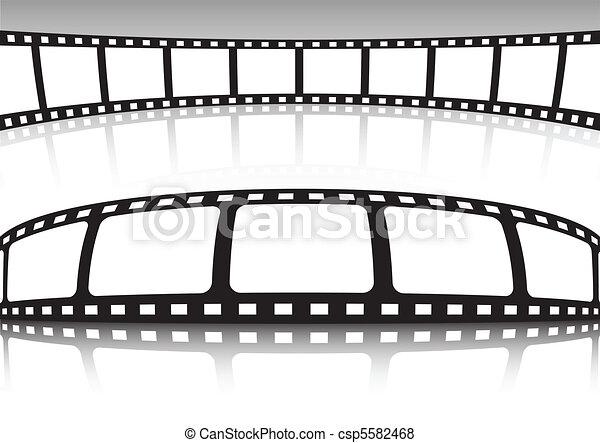 Vector film strip set of background - csp5582468
