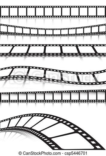 Vector film strip various backgroun - csp5446701