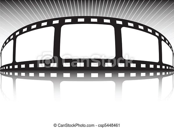 Vector film strip various backgroun - csp5448461