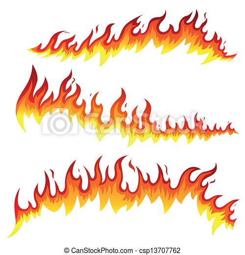 Vector Fire Elements - csp13707762
