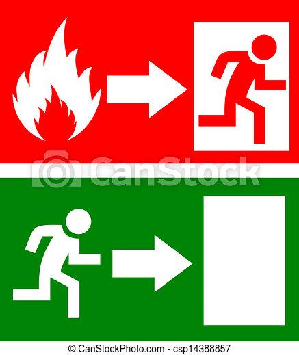 Vector fire exit signs - csp14388857