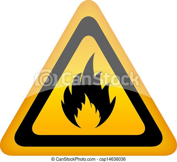 Vector fire sign - csp14636036