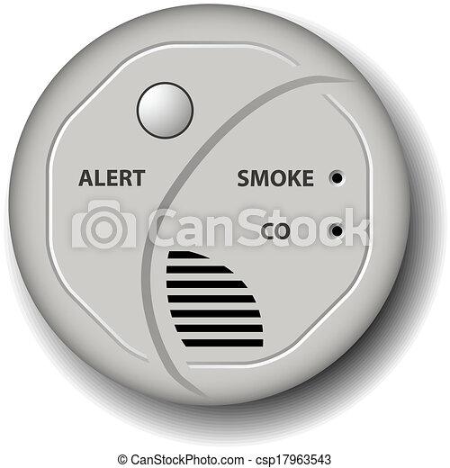 vector fire smoke carbon monoxide detector alarm - csp17963543