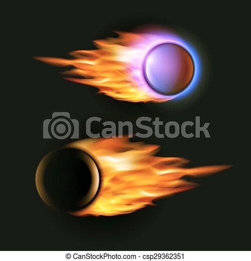 fireball black background