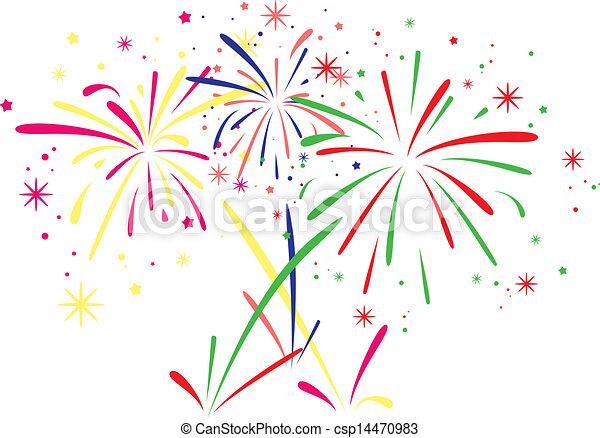 vector fireworks background - csp14470983