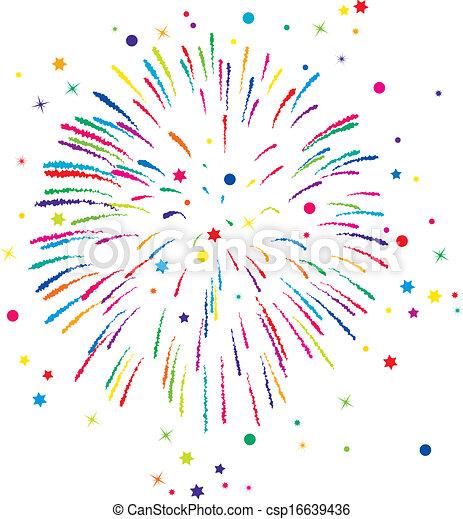 vector  fireworks background  - csp16639436