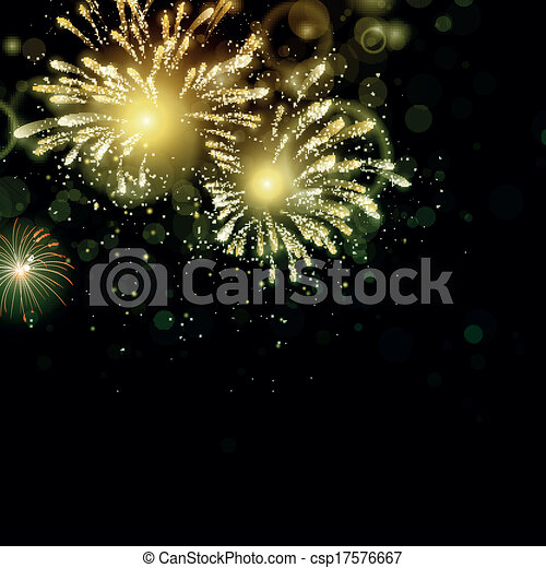 Vector Fireworks - csp17576667