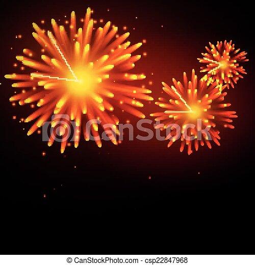Vector Fireworks - csp22847968