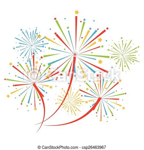 vector fireworks  - csp26463967