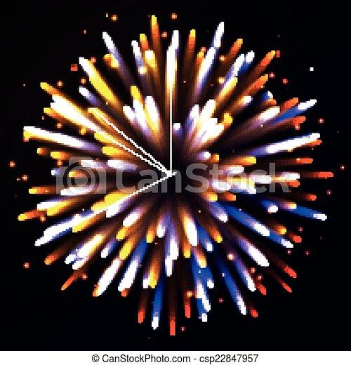 Vector Fireworks - csp22847957