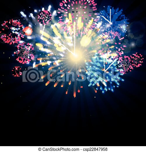 Vector Fireworks - csp22847958