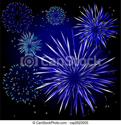 Vector fireworks - csp2623005