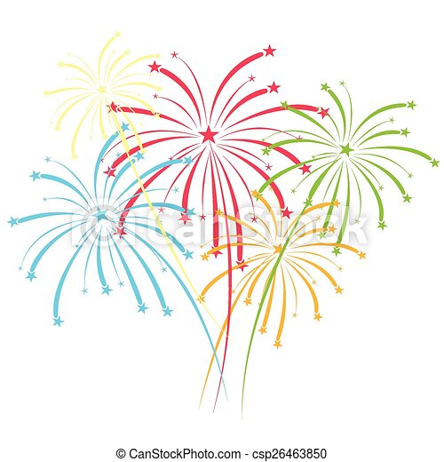 vector fireworks  - csp26463850