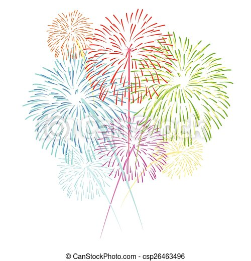 vector fireworks  - csp26463496