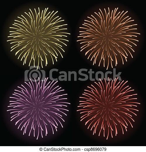 vector fireworks - csp8696079