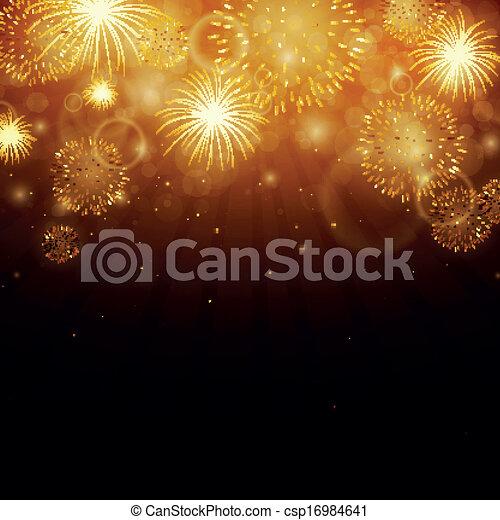Vector Fireworks - csp16984641