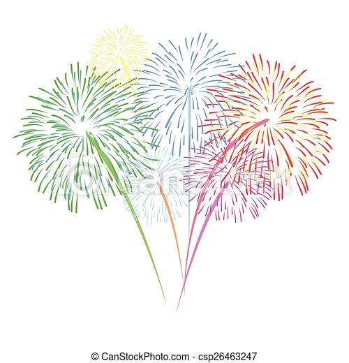 vector fireworks  - csp26463247