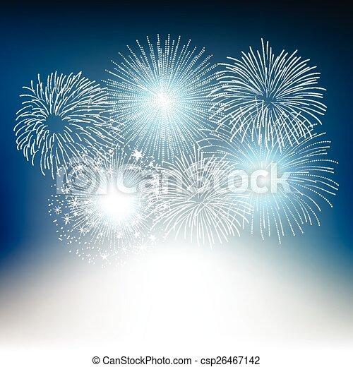 vector fireworks  - csp26467142