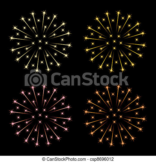 vector fireworks - csp8696012