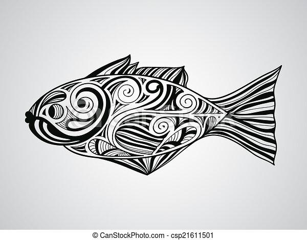 vector fish vector fish tattoo style