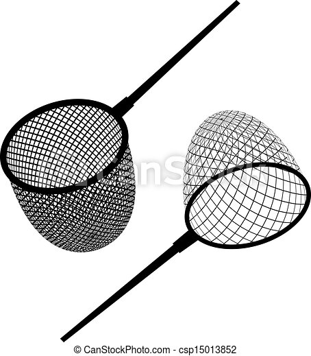 vector fishing net black icon - csp15013852