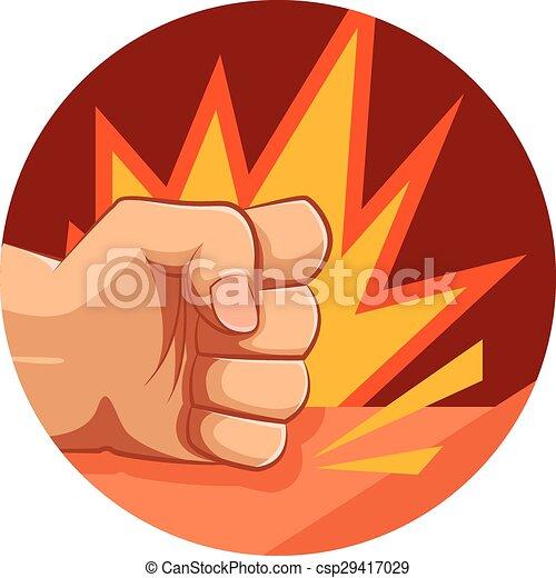 Vector fist strike - csp29417029