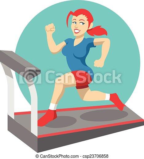 Vector fitness flat illustration - csp23706858