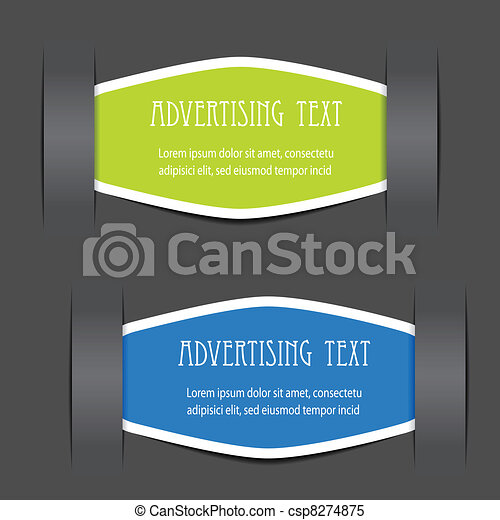Vector fixed labels for advertising text - csp8274875