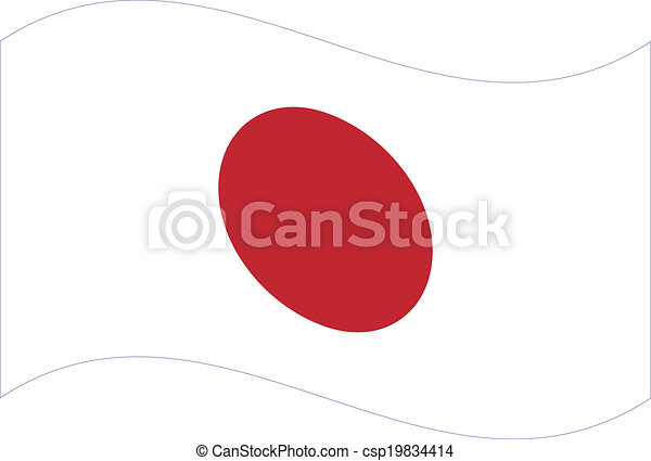 Vector flag. Japan - csp19834414