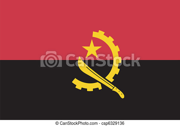 Vector flag of  Angola - csp6329136