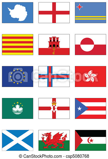 Vector flag set of world continents - csp5080768