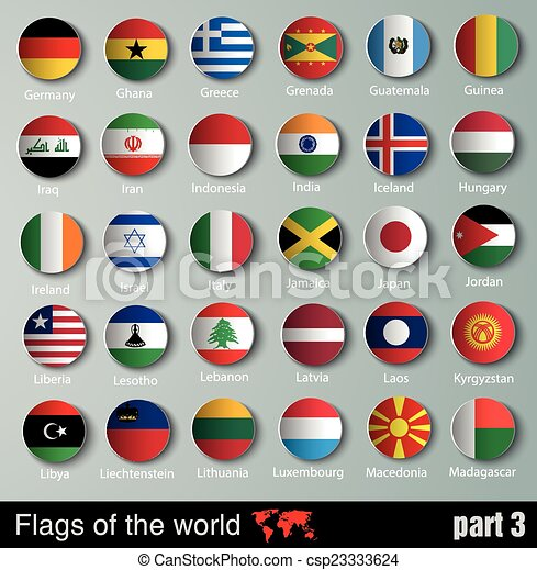vector Flags of all countries   - csp23333624