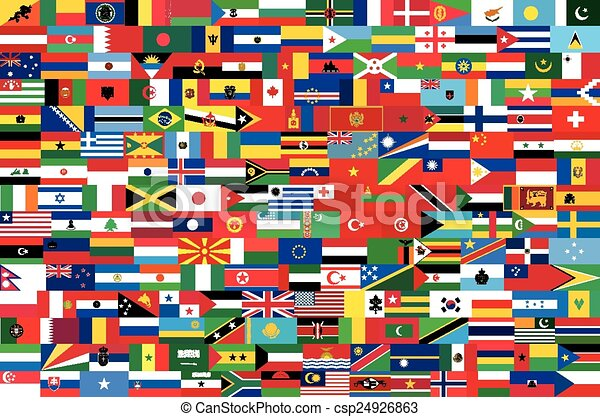 vector flags of all countries in on - csp24926863