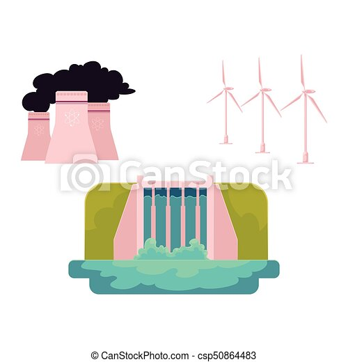 vector flat all types of energy resources