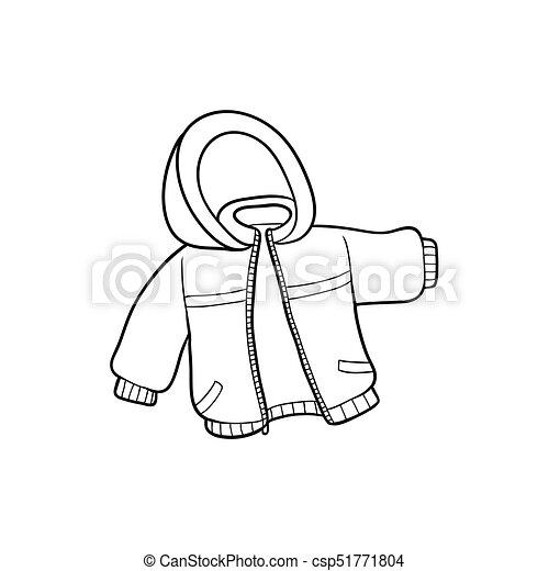 Vector Flat Baby Kid Jacket Vector Flat Cartoon Child Baby Kid