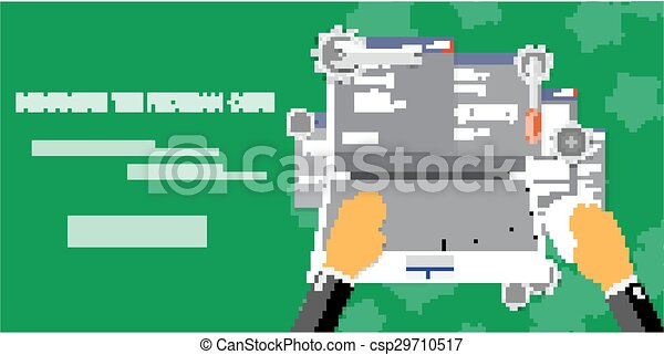 Vector flat concept of programming and coding - csp29710517