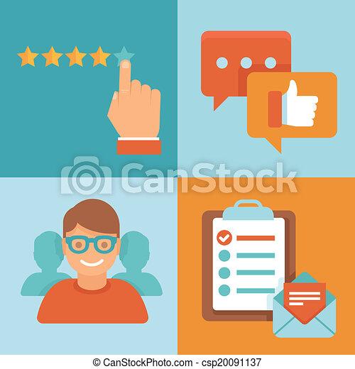 Vector flat customer experience concepts - csp20091137