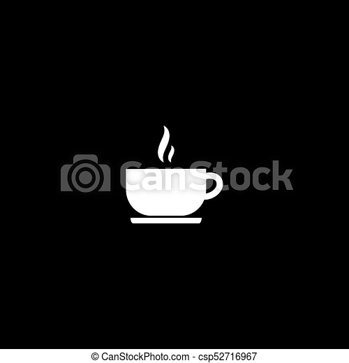 vector flat icon of tea drink on black background can stock photo
