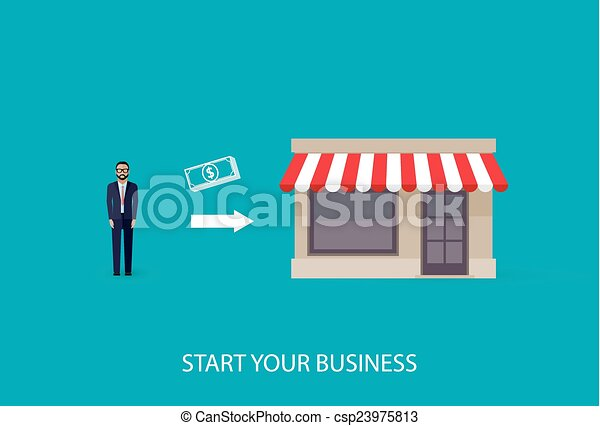 vector flat illustration of an infographic business concept. bus - csp23975813