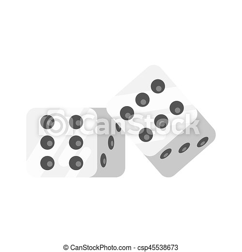 Vector flat style illustration of dice. - csp45538673