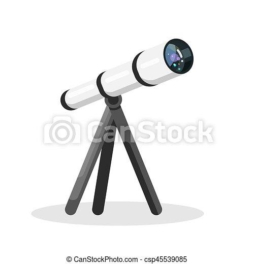 Vector flat style illustration of telescope - csp45539085