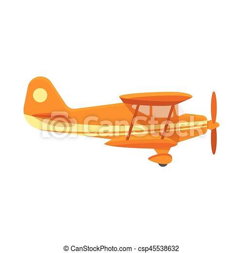 Vector flat style illustration of plane. - csp45538632