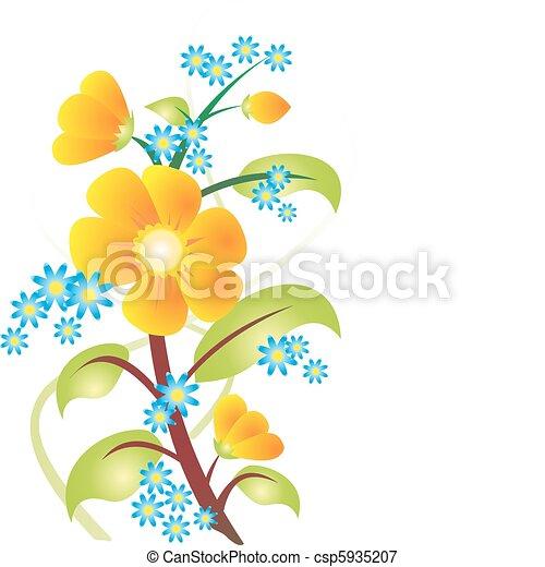 Vector de flores - csp5935207